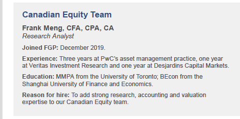 Canadian Equity Team